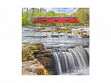 Small Wooden Jigsaw Puzzle - Red Covered Bridge