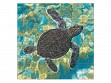 Medium Wooden Jigsaw Puzzle - Mosaic Sea Turtle