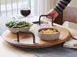 Rotating Wine Cask Serving Platter