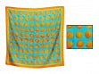 Patterned Silk Scarf - Orange Juice