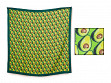 Patterned Silk Scarf - Guacamole