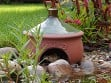 Ceramic Frog & Toad House