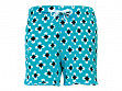 Lounge Shorts - Small/Medium - Turquoise and White Diamond