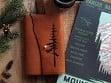 Etched Leather Map Journal - Pine Tree
