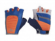 Rechargeable Lighted Gloves - Blue & Orange - Small