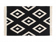 B & W Print Machine Washable Rug - Diamonds - 5' x 7'