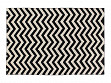 B & W Print Machine Washable Rug - Zig-Zag - 5' x 7'