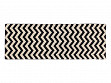 B & W Print Machine Washable Rug - Zig-Zag - 2.5' x 7.5'