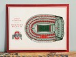 Wooden Five-Layer Stadium Wall Art