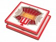 3D Stadium Coaster Set NCAA Indiana Hoosiers Assembly Hall