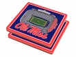 3D Stadium Coaster Set NCAA Mississippi Rebels Vaught Hemingway Stadium