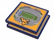 3D Stadium Coaster Set NCAA West Virginia Mountaineers Milan Puskar Stadium