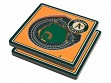 3D Stadium Coaster Set MLB Oakland Athletics Oakland-Alameda County Coliseum