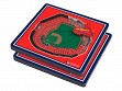 3D Stadium Coaster Set MLB St. Louis Cardinals Busch Stadium