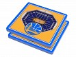 3D Stadium Coaster Set NBA Golden State Warriors Oracle Arena