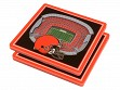 3D Stadium Coaster Set NFL Cleveland Browns FirstEnergy Stadium