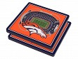 3D Stadium Coaster Set NFL Denver Broncos Mile High Stadium