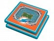 3D Stadium Coaster Set NFL Miami Dolphins Hard Rock Stadium