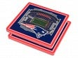 3D Stadium Coaster Set NFL New England Patriots Gillette Stadium