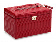 Large Quilted Jewelry Case - Red
