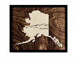 Framed Cityscape State Art - Alaska - Mountains - Large