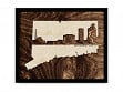 Framed Cityscape State Art - Connecticut - Bridgeport - Large
