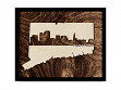 Framed Cityscape State Art - Connecticut - Hartford - Large