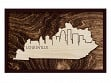 Framed Cityscape State Art - Kentucky - Louisville - Large