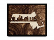 Framed Cityscape State Art - Massachusetts - Boston - Large