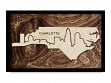 Framed Cityscape State Art - North Carolina - Charlotte - Large