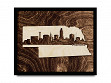 Framed Cityscape State Art - Nebraska - Lincoln - Large
