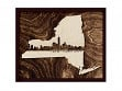 Framed Cityscape State Art - New York - New York City - Large