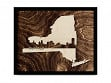Framed Cityscape State Art - New York - Buffalo - Large