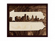 Framed Cityscape State Art - Pennsylvania - Philadelphia - Large
