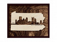 Framed Cityscape State Art - Pennsylvania - Pittsburgh - Large