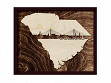 Framed Cityscape State Art - South Carolina - Charleston - Large