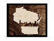 Framed Cityscape State Art - Wisconsin - Milwaukee - Large