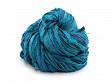 Upcycled Sari Silk Ribbon Yarn - Teals Galore