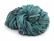 Upcycled Sari Silk Ribbon Yarn - Sea Foam