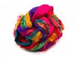 Upcycled Sari Silk Ribbon Yarn - Tibet Jewels