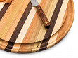 Round Handcrafted Grooved Cutting Board