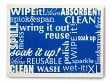 Large Swedish Cleaning Cloth - Blue