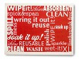 Large Swedish Cleaning Cloth - Red