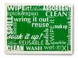 Large Swedish Cleaning Cloth - Green