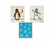 Swedish Dishcloth - 3 Pack - Winter Wonderland Penguin