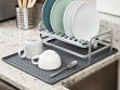 Dish Rack & Silicone Drying Mat Set