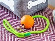 Natural Rubber Fillable Ball & Rope