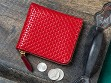 Lacquer-Embossed Leather Coin Purse