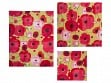 Reusable Beeswax Food Wrap Multipack - Painted Poppy