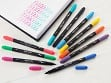 Dual-Tip Color Brush Pens - Set of 10